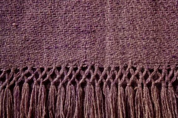 manta de lana de llama malva