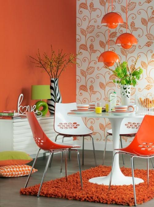 decorar en color naranja