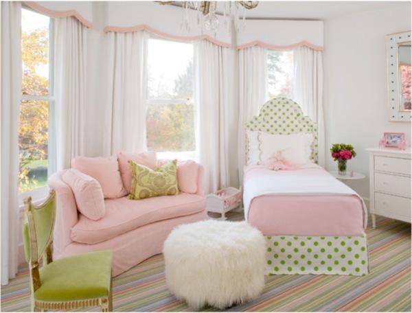 dormitorio-infantil-en-verde-y-rosa