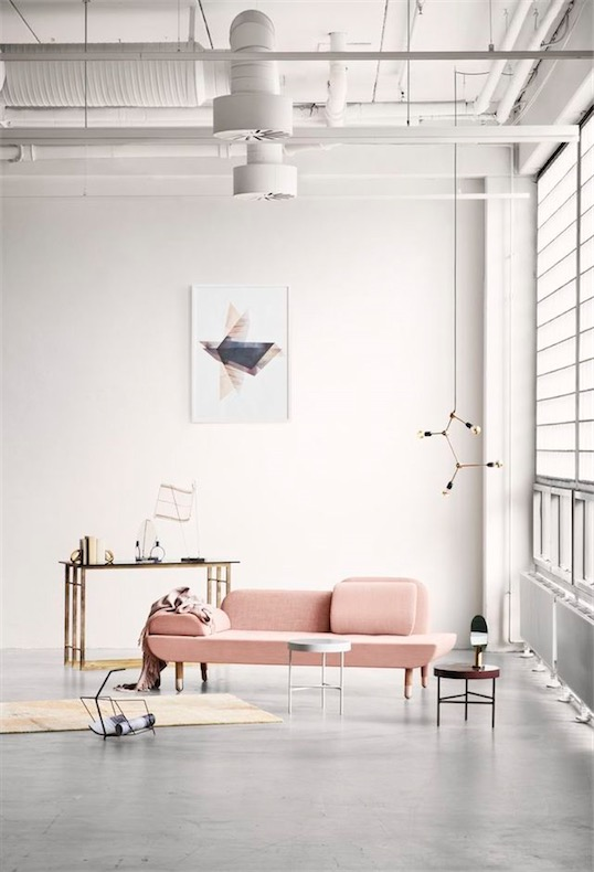 rosa quarzo sofa