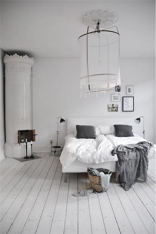 decoracion en blancos y grises